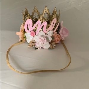 Other - 1st Birthday Floral Crown